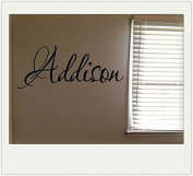 Addison Girls Room Name Nursery Baby Kids Vinyl Wall Quote Sticker
