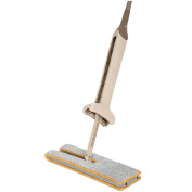 Dual Action Lazy Flat Mop -Wet & Dry Mopping in 2 side-Free Your Hands -Washable Mop -360 ° Rotation-38X12-Cm-Useful Home Cleaning Tool - MOONHOUSE