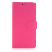 Galaxy Note 5 Case,TONERONE Genuine Leather Ultra Thin Slim Litchi Pattern Card Slot Business Back Cover for Samsung Galaxy Note 5 Pro,Pink
