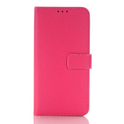 Galaxy S7 Case,TONERONE Genuine Leather Ultra Thin Slim Litchi Pattern Card Slot Business Back Cover for Samsung Galaxy S7 Pro,Pink
