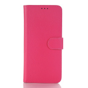Galaxy S8 Case,TONERONE Genuine Leather Ultra Thin Slim Litchi Pattern Card Slot Business Back Cover for Samsung Galaxy S8 Pro,Pink