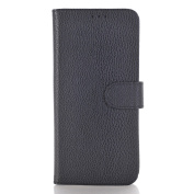 Galaxy S8 Plus Case,TONERONE Genuine Leather Ultra Thin Slim Litchi Pattern Card Slot Business Back Cover for Samsung Galaxy S8 Plus Pro,Black