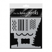 Hunkydory For the Love of Masks - A Cosy Christmas Stencil - FTLM232