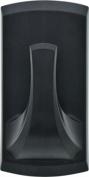 Hillman 515802 High & Mighty Plastic Hook, 9.1kg, Black, 2 Piece