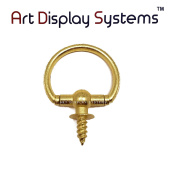 ADS Large Brass Oval Decorative Hanger – Pro Quality – 15 Pack by ART DISPLAY SYSTEMS