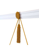Vera Rosette and Tassel Picture Hanger with Rail Hook in Green