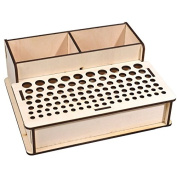 Para-wish Wood Leather Craft Tools Holder Rack Stand Leather Stamp Punch Tools Storage Box Organiser