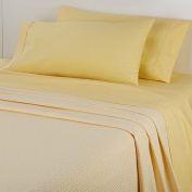 Concierge Collection 100% Cotton Sheet and Blanket Set, Queen, Yellow