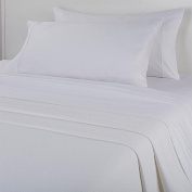 Concierge Collection 100% Cotton Full Sheet and Blanket Combo, White