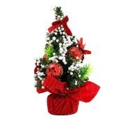 Trenton Mini Christmas Tree Bow-knot Ball Flower Xmas Party Table Decor Ornaments