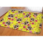 HUGSIDEA Kitty Printed Floor Doormat Outdoor Indoor Door Mat Non-slip Super Soft Welcome Rugs Carpet
