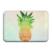 Print Pineapple Outdoor/Indoor Entrance Doormat Printed Doormat Non-slip Doormats For Kitchen/Bathroom/Bedroom
