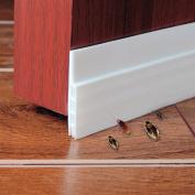 Door Bottom Seal Strip- Under Door Sweep Door Draught Stopper Self-adhesive Weather Stripping,5.1cm Width x 100cm Length