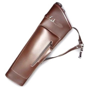 CAROL 2 ARROW TUBES ARCHERY SYNTHETIC LEATHER SIDE/HIP QUIVER SAQ158 BROWN L/H