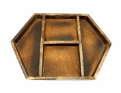 1 (ONE) Crystal Display Wood Tray - Crystal Grid - Crystal Collector Display Organiser
