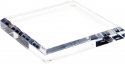 Plymor Brand Clear Acrylic Square Bevelled Display Base, .190cm H x 13cm W x 13cm D