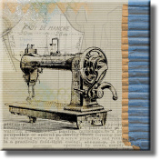 Vintage Sewing Machine Wheeler & Wilson Picture on Stretched Canvas, Wall Art Décor, Ready to Hang