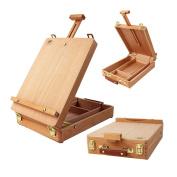 Wooden French Tripod Easel Portable Sketch Table Box Folding Durable Art - (36 x 27)cm