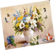 Wowdecor Paint by Numbers Kits for Adults Kids, Number Painting - Brilliant Flowers and Butterflies, Beautiful Flowers and Fruits 41cm x 50cm