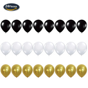 "KUNGYO Funny Birthday Party Decoration Kit – ""Happy Fucking Birthday"" Balloon Banner, Champagne Bottle and Goblet Mylar Foil Balloons,Black Gold White Latex Ballon - Perfect Birthday Party Supplies"