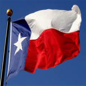 Snowfoller Party Banners, 0.9m x 1.5m Deluxe Texas Embroidered TX American Nylon Lone Stars USA Flag