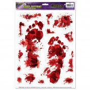 Halloween Bloody Clings - Scary Handprint & Footprint Clings | Party Decoration, Wall Decor
