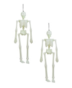 Spooky Bones Glow in the Dark Skeleton 46cm .