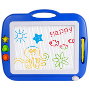 SGILE Non-Toxic Magnetic Erasable Magna Doodle Drawing Board Toy, Assorted Colours Writing Painting Sketching Pad Board for Toddler Boy Girl Kids Skill Development, Blue