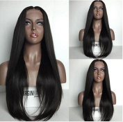 VINUSS Silk Straight Lace Front Wigs with Baby Hair - Brazilian Virgin Human Hair Glueless Lace Wigs for Black Women