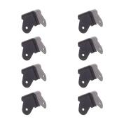 BCP 8pcs Black Colour Metal 3-Legs Amp Cabinet Corner Protectors Guards