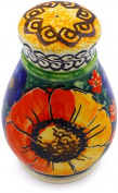 Polish Pottery Pepper Shaker 7.6cm (Bright Beauty Theme) Signature UNIKAT
