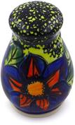 Polish Pottery Pepper Shaker 7.6cm (Midnight Glow Theme) Signature UNIKAT