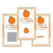 Set of 12 Scratch Off Game Cards for Baby Shower Games with Fall Pumpkins SCF001