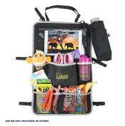 Happy Elephant Backseat Car Organiser for Kids w/ Extra Large Tablet Holder and Free Bottle Pouch | Works as Auto Back Seat Protector | Ample Room for Toys, Baby Stuff & More | Great New Mom gifts