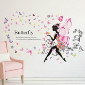 110cm x 120cm DIY Wedding Wall Stickers Home Decor Living Room Butterfly Flower Vine Princess Wings Fairy Art Wall Decal Kids Rooms Home Decor Decoration