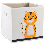 "E-Living Store Collapsible Storage Bin Cube for Bedroom, Nursery, Playroom and More 13x 33cm x 13"" - Tiger"