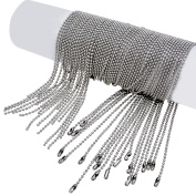 Pistha 20 Pieces Stainless Steel Bead Chain 80cm Ball Chain Necklaces