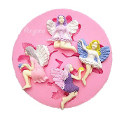 Anyana 4 Fairy Wizard Angel Silicone Fondant Mould cake decorating tools Chocolate Polymer Clay Mould cupcake topper decoration