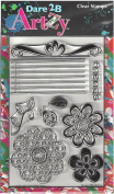 Dare 2B Artzy Doodle Garden (14157) Clear Cling Rubber Stamps