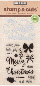 Hero Arts DC195 Christmas Trimmings Stamp & Cut Stamps and Dies