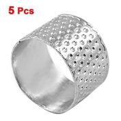 Water & Wood Tailors Sewing Reeded Texturing Silver Tone Metal Thimble 5 Pcs