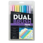 Tombow Dual Brush Pen Art Markers, Pastel, 10-Pack