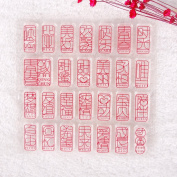 YOUNGFLY Badge Serise Pattern Transparent Rubber Stamp Seal DIY Album Craft Scrapbooking Decor 03