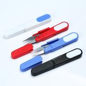 Anndeeson 2pcs U Shape Beading Thread Cutter Fishing Line Sewing Scissors with Cap