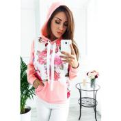 Sinwo Fashion Womens Long Sleeve Floral Print Hoodie Sweatshirt Hooded Loose Pullover Tops Blouse