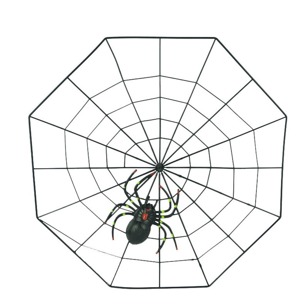 Oulii Fake Spider Practical Jokes Props Realistic Plastic Spider