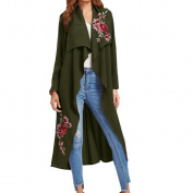Cardigan Outerwear,Morecome Women New Floral Applique Long Open Front Jacket