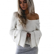 Knitwear Tops,Morecome Women Long Sleeve Knitted Pullover Loose Sweater