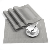 Placemats,VICTING Heat-Resistant Placemats Stain Resistant Anti-skid Washable PVC Table Mats
