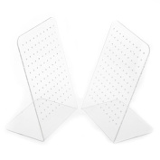 Vellhater 2pcs Creative L Type Earrings Studs Display Stand with 120 Hole